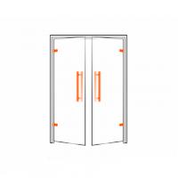 Фурнитура для стеклянных распашных и межкомнатных дверей