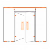 Фурнитура для стеклянных перегородок и маятниковых дверей