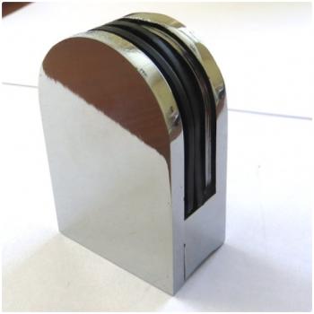 Крепление труба-стекло без сверления. Высота 65 мм, ширина 43 мм, стекло 10-12 мм