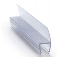 ПВХ уплотнитель для стекла душевых кабин, 8 мм.