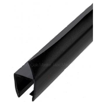 Профиль уплотнительный, чёрный, стекло 8 мм 2,2 метра.
