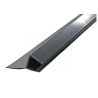 Чёрный ПВХ уплотнитель для стекла душевых кабин, 8 мм.