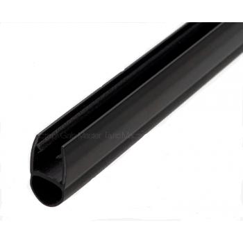Профиль уплотнительный, чёрный, стекло 8 мм 2.2 метра