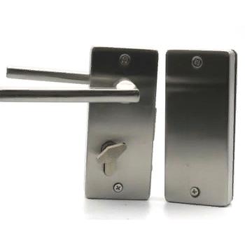 Замки с ручкой без притвора с ответной частью на стекло