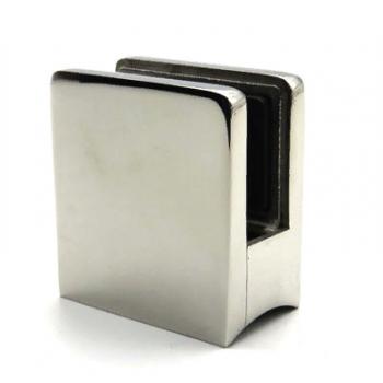 Стеклодержатель квадратный литой, для стекла 10-12 мм, на трубу Ø50,8 мм.